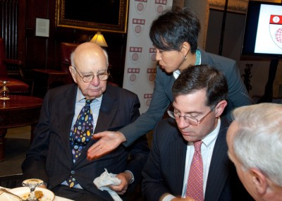 With former Fed Chairman Paul Volcker